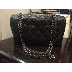 CHANEL Bags - CHANEL Lambskin Quilted Chanel 3 Flap Bag Black